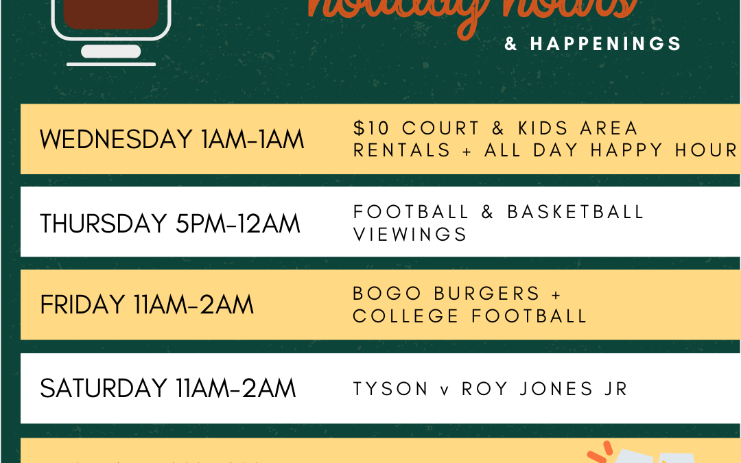Thanksgiving Hours!